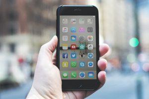 produits numériques dans un smartphone